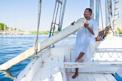 The boatman Royalty Free Stock Photography