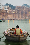 Boatman on the Ganges Stock Photos