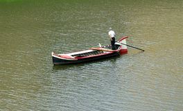 Boatman in Italy Royalty Free Stock Images