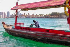 Boatman in a sea stock images