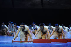 Boatman-The third act of dance drama-Shawan events of the past Stock Photo