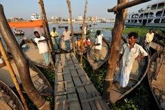Boatmen stock photo