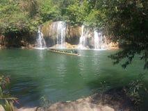 Boaton длинного хвоста река Kwai на национальном парке Sai Yok Стоковое Изображение RF