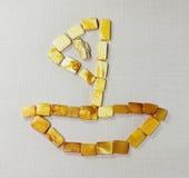 Boaton ambarino a superfície de matéria têxtil Imagem de Stock Royalty Free
