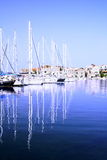 Boats. Small harbor with boats in Croatia stock images