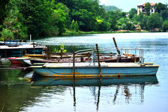 Old rowing boats  Royalty Free Stock Photography