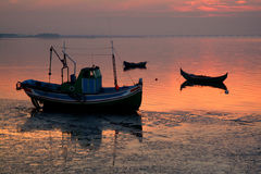Boats. Silhouettes Stock Photos