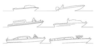 Boats. Shapes. Illustration in vector Royalty Free Stock Photos