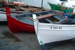 Boats. Of fish Royalty Free Stock Photos