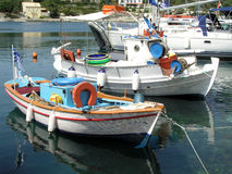 Boats. Commercial fishing boats in Greece Royalty Free Stock Images