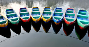 Boats. Many boats of park on the lake.Xian,China