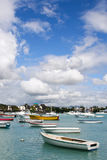 Boats. At Grand Bay harbour, Mauritius stock photo