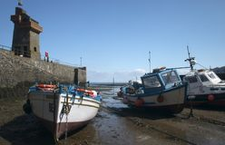 Boats. A harbour scenery royalty free stock photos