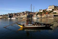 Boats. At the river douro in oporto, portugal Stock Photos