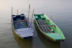 Boats. A pair of  boats at dock Stock Images