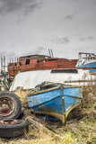 Boats, Abandoned, Decaying, rotting Stock Photography
