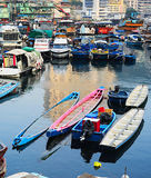 Boats in Aberdeen village, HK Stock Images