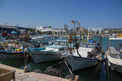 Boats in Agia-Napa harbor Royalty Free Stock Images