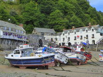 Boats aground in harbour Royalty Free Stock Image
