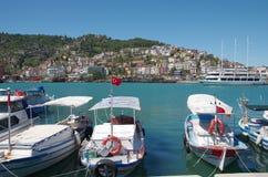 Boats in Alanya bay Stock Image