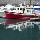 Boats in an Alaskan Harbor Royalty Free Stock Photo