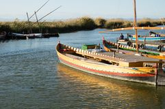 Boats in Albufera Royalty Free Stock Photo