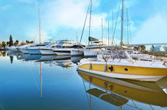 Boats at Alimos Attica Greece royalty free stock photo
