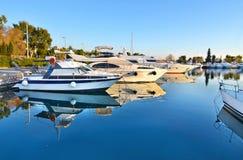 Boats at Alimos Attica Greece royalty free stock photos