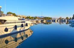 Boats at Alimos Attica Greece stock photo