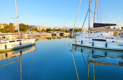 Boats at Alimos Attica Greece Stock Images