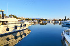 Boats at Alimos Attica Greece Royalty Free Stock Image