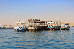 Boats along the Nile, Egypt Royalty Free Stock Photography