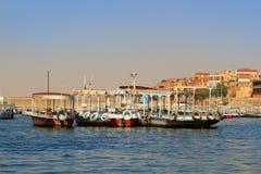 Boats along the Nile, Egypt Stock Photo