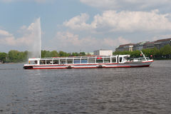 Boats on the Alster in Hamburg Stock Images