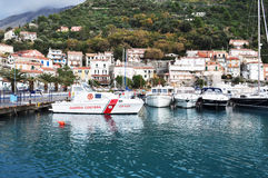 Boats on Amantea port Italy Stock Photo