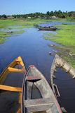 Boats in Amazonia Royalty Free Stock Photos