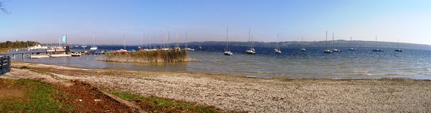 Boats on the Ammersee, Germany 10.10.2010 Stock Photography