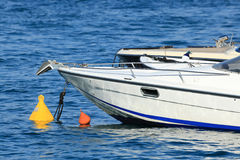 Boats at anchorage in seaport, Capri island - Italy Stock Photo