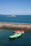 Boats anchored at the marina Stock Photos