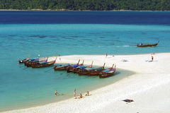 Boats in Andaman sea Royalty Free Stock Images