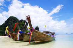 Boats in Andaman Sea Royalty Free Stock Photos