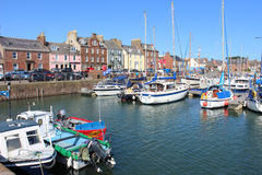 Boats in Arbroath Harbour Arbroath Angus Scotland Royalty Free Stock Photography