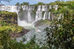 Boats around Iguazu Falls, Argentina Royalty Free Stock Photos