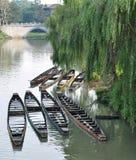 Boats array Royalty Free Stock Photography