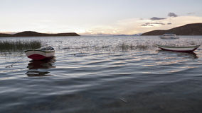 Free Boats At Sunset Royalty Free Stock Photography - 19743817