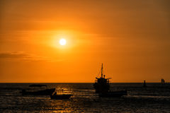 Free Boats At Sunset Stock Images - 39143564