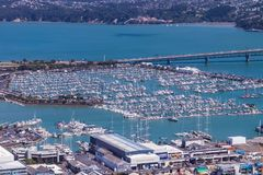 Boats of Auckland. Auckland New Zealand the city of boats Royalty Free Stock Images