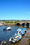 Boats in Axmouth harbour. Stock Photos