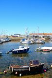 Boats in Axmouth harbour. Stock Photography