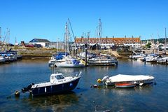 Boats in Axmouth harbour. Royalty Free Stock Photography
